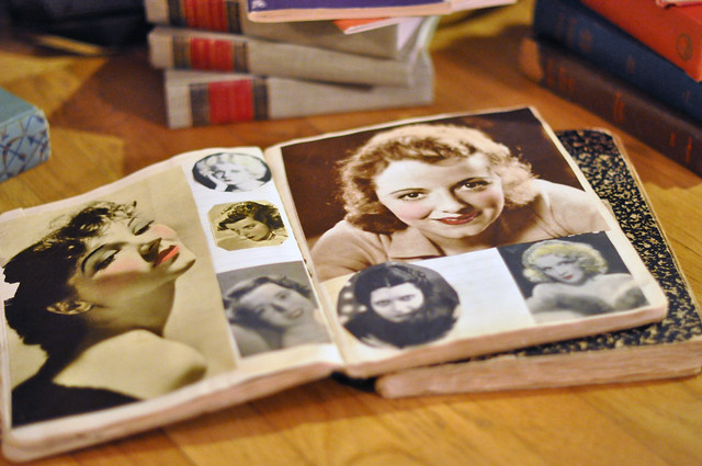 vintage composition books, vintage scrapbooks, Old Hollywood Movie Stars, old magazines, magazines from the 1930's,, DSC_0346