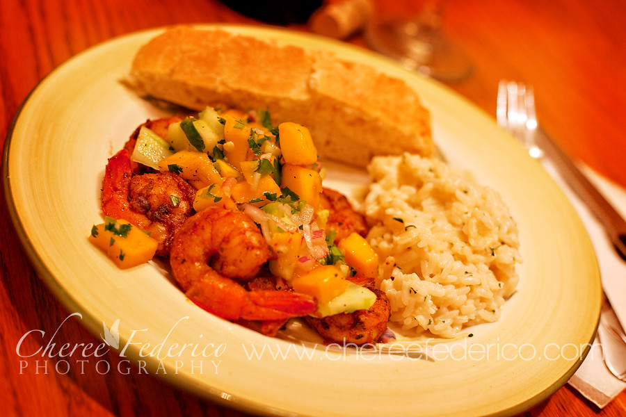 Blackened Shrimp and Mango Salsa