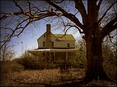 The Old Moore House (History Rambler) Tags: old tree abandoned rural oak south northcarolina historic haunted southern posted plantation vacant limbs antebellum decayed tinroof keepout halifaxcounty spookywindow
