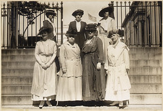 This delegation of officers of the National American Woman Suffrage Association received from President Wilson ...