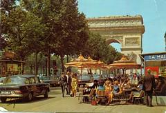 L'Arc de Triomphe,Paris 1971 (reinap) Tags: paris postcard larcdetriomphe