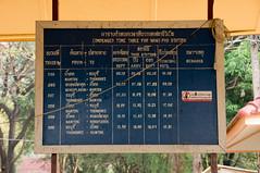 time table. (*Sabine*) Tags: thailand asia asien railway siam bahn timetable fahrplan wangpho