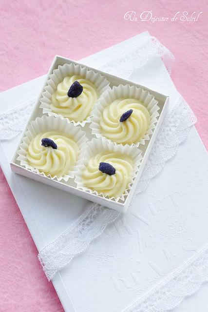 Truffes blanches à la violette
