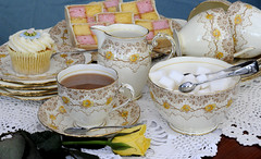 Vintage China and Product (andymainphotography) Tags: china uk cakes vintage shropshire telford cups marshmallows gb sweets porcelain bonbons saucers shabbychic teaware teaplates