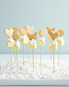 lemon meringue cookie kebabs