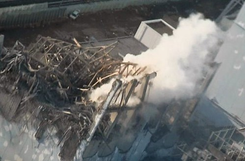 """fukushima #3 steam rises"""