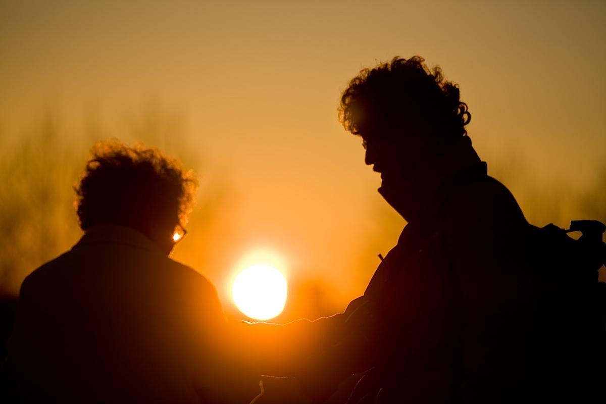 Puesta de sol entre Nati y Richard
