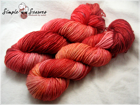 Handdyed Superwash MCN in Blood Orange