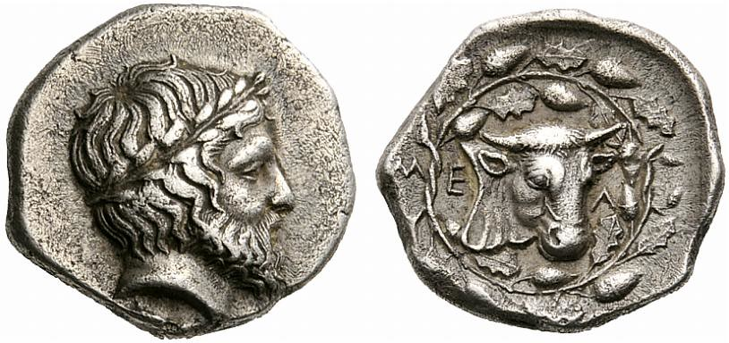 A Unique Greek Silver Hemidrachm of Melitaia (Thessaly), a Noble Depiction of Zeus
