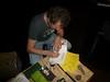 Steven Vromman, de 'Low Impact Man' uit Belgie signeert zijn boek