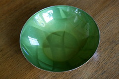 Cathrineholm Bowl!!!! (breareye) Tags: green norway vintage store thrift score stainless awesomeness enamel consignment enamelware cathrineholm