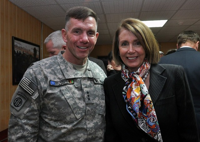 Leader Nancy Pelosi and Lt. General William Caldwell