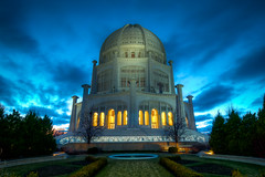 Baha'i Temple (Michael Patrick Perry) Tags: sunset chicago architecture religious temple illinois bahai hdr wilmette