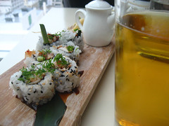Beer and sushi