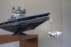 Star Destroyer chasing Corellian Corvette (marvelousRoland) Tags: starwars lego stardestroyer ucs imperialstardestroyer rebelblockaderunner 10030 tantiveiv