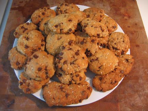 Cookies au chocolat et au sésame 02