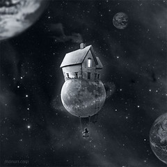 His little moon / Su pequea luna (manurs.) Tags: moon house cute art home girl illustration photoshop stars photography design photo casa foto chica arte graphic sweet space manipulation manipulacion swing luna nia creation fantasy fantasia estrellas planet montaje lovely inspire diseo dulce ilustracion inspiracion grafico hogar espacio planeta columpio universo fotografico univers idream manurs