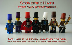 New Stovepipe Hats for sale NOW! (V&A Steamworks) Tags: hat lego pipe hats stove va buy custom steamworks steampunk mocs stovepipe