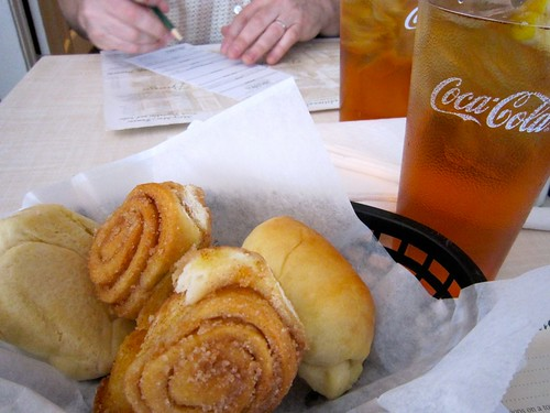 Bread Basket and Sweet Tea