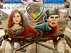 Bollywood Drama as Rickshaw Art - Rajshahi, Bangladesh (uncorneredmarket) Tags: transport bollywood rickshaw bangladesh rickshawart rajshahi