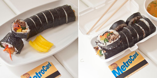 kimbap top - side to side