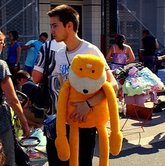 flat eric's after-gig fatigue (japanese forms) Tags: guy yellow youth square dj market random candid squareformat muppet levis stephane streetmarket lurkation flateric mroizo furrytoy lurkatron japaneseforms2011 aftergigfatigue