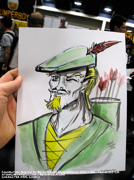 wondercon 2011 comission - Green Arrow
