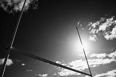 the fastest runner (Keith Midson) Tags: utas universityoftasmania goals goal posts sun sky clouds tasmania hobart canon 5d sigma 2470mm
