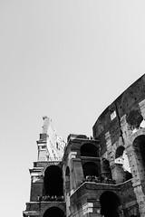 Colosseum visitors (lorenzoviolone) Tags: bw blackwhite blackandwhite finepix fujix100s fujifilm fujifilmx100s monochrome old people polaroid665 vsco vscofilm x100s colosseo colosseum decay landmark mirrorless strangers streetphoto streetphotobw streetphotography tourists walk:rome=sep222016 roma lazio italy
