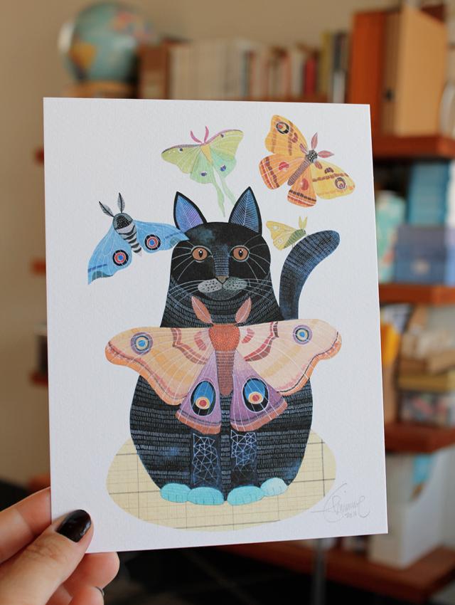 Moth Cat print