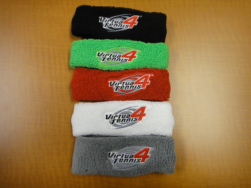 Virtua Tennis 4 - Promo Sweatbands, full set
