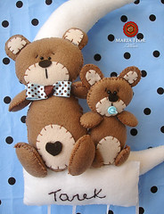 Porta Maternidade (mariafloratelier2) Tags: bear felt feltro urso portamaternidade