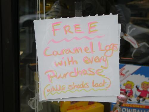 FREE CARAMEL LOGS!!!!!