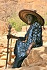 The Village Chief, Dogon Country (**El-Len**) Tags: africa wood hat village dress chief traditional indigo carving westafrica mali ethnic dogon fav10 fav25 thegalleryoffinephotography