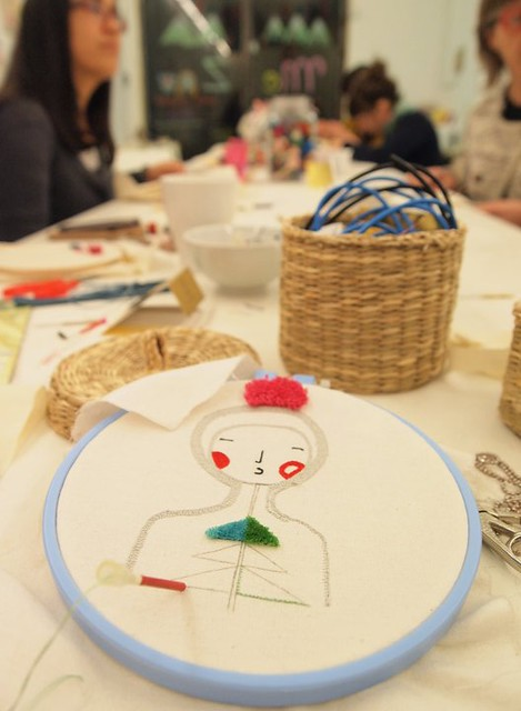 Punchneedle workshop at Duduá