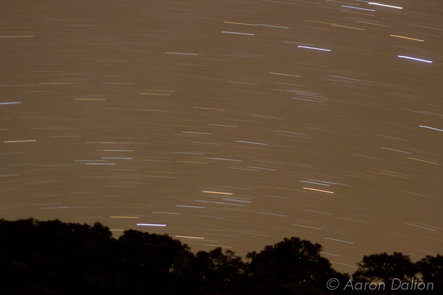 Star Trails Over Ridge