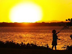 2010_0618CapeYorkTour10063 (Croc Bait) Tags: sunset sun child aboriginal indigenous cooktown aboriginaldance amazingsunset nativedance aboriginalchildren indigenouschildren corrobaree