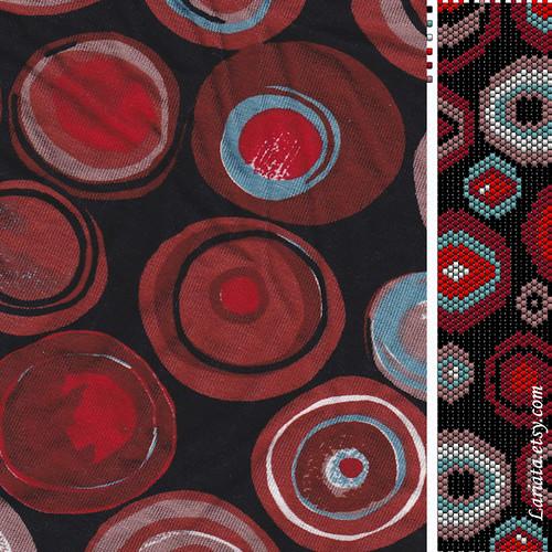 fabric and peyote pattern