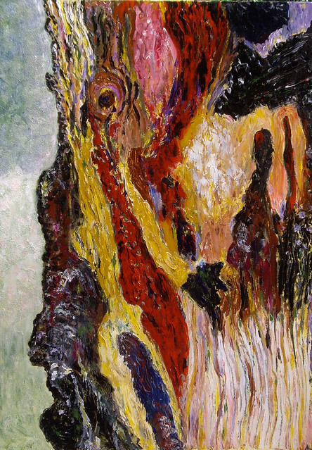 Tree bark acrylic painting