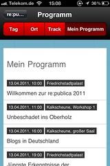 re:publica XI Mobile Seite: Mein Programm