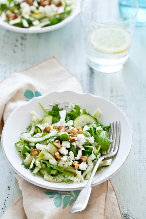 Fennel, Zucchini, Dill & Arugula Salad