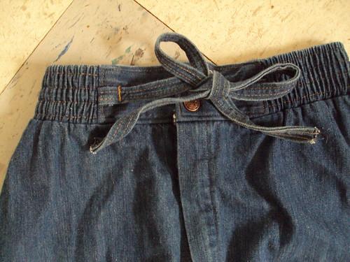Denim Tie Skirt (top detail)