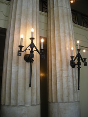 Candelabras in the Scottish Rite Cathedral in New Castle, PA