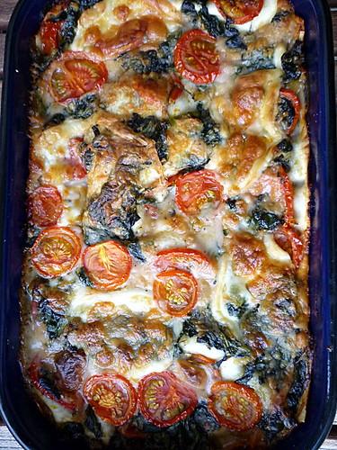 Bärlauch-Tomaten-Lasagne