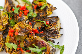 Artichokes with Mint and Chilies