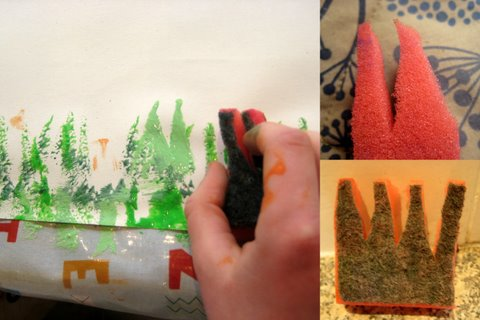 painting with stamps