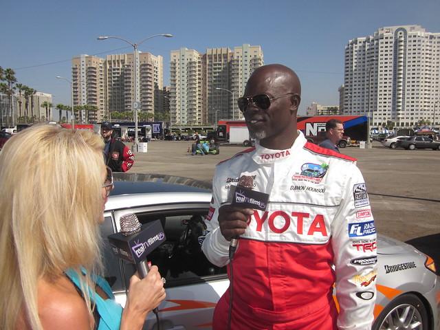 Jennifer Lexon, Djimon Hounsou, Toyota Grand Prix Celebrity Race 2011