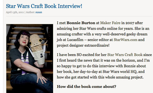 Star Wars Craft Book Interview!