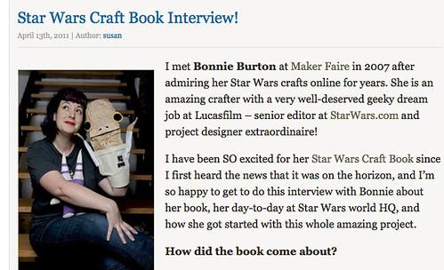 Star Wars Craft Book Interview!