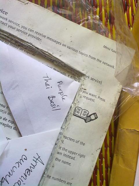 Semillas del correo